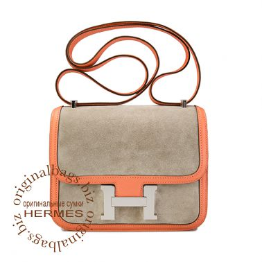 Hermes Constance 18 см Grey Tourterelle/Crevette