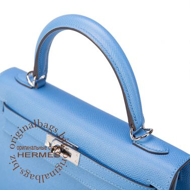 Hermes Kelly 25 Blue Paradise
