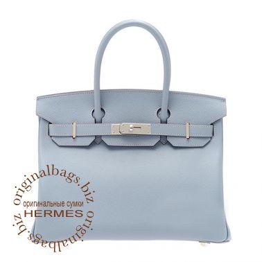 Hermes Birkin 30 Blue Lin