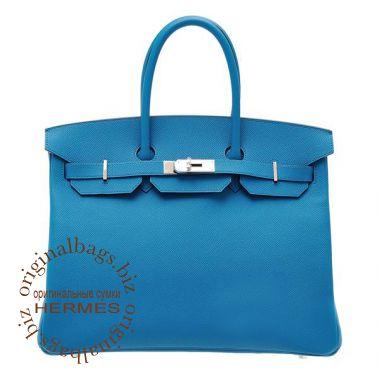 Hermes Birkin 35 Blue Izmir