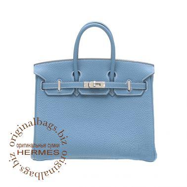 Hermes Birkin 25 Blue Jean