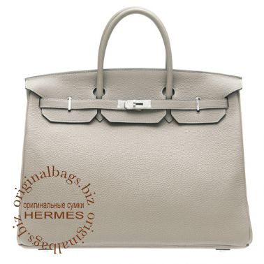 Hermes Birkin 40 Grey Tourterelle