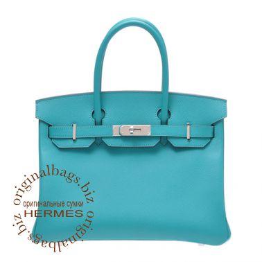 Hermes Birkin 30 Blue Paon