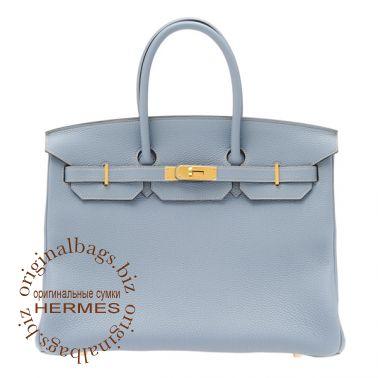 Hermes Birkin 35 Blue Lin