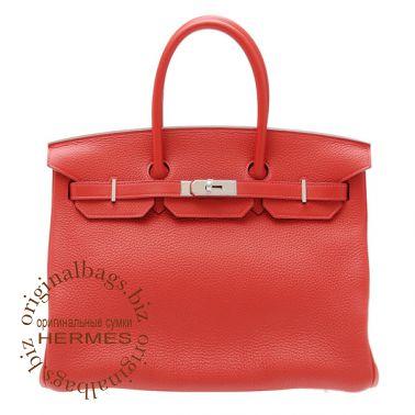 Hermes Birkin 35 Rouge Casaque