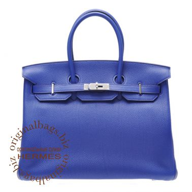 Hermes Birkin 35 Blue Electric