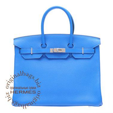Hermes Birkin 35 Blue Hydra