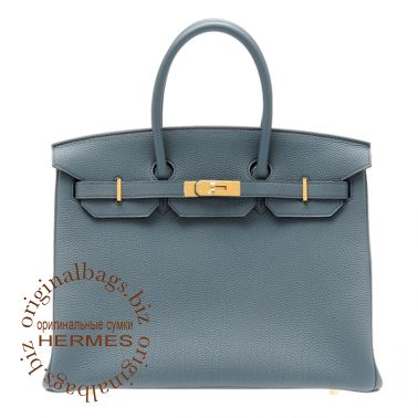 Hermes Birkin 35 Blue Orage