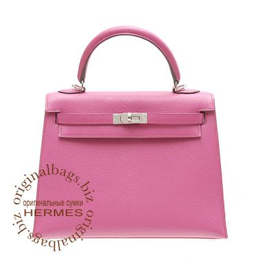 Hermes Kelly 25 Rose Shocking