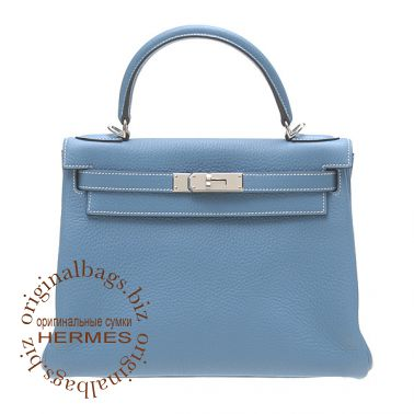 Hermes Kelly 28 Blue Jean