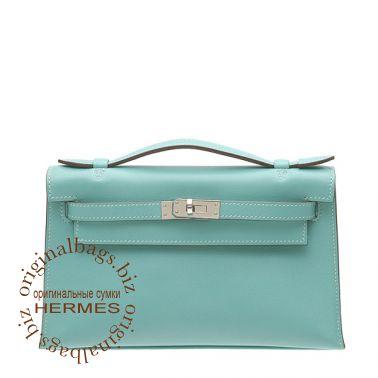 Hermes Kelly Pochette Lagon