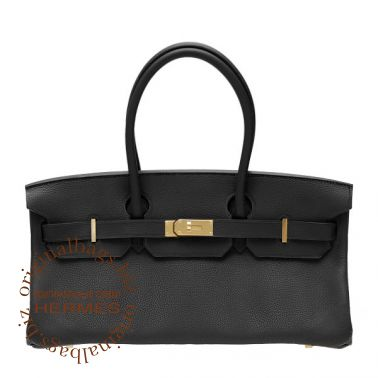 Hermes Shoulder Birkin Black