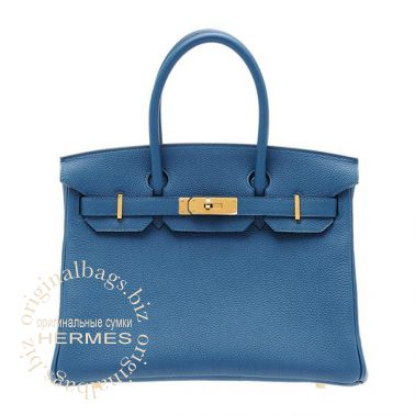 Hermes Birkin 30 Blue de Galice