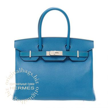 Hermes Birkin 30 Blue Izmir