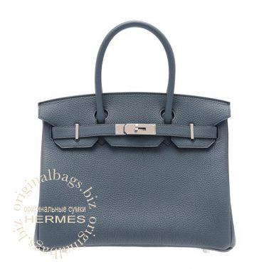 Hermes Birkin 30 Blue Orage