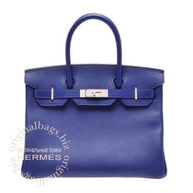 Hermes Birkin 30 Blue Saphir