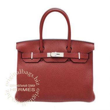 Hermes Birkin 30 Rouge H