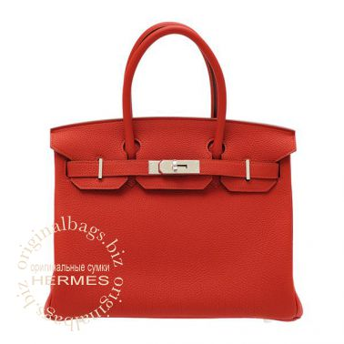 Hermes Birkin 30 Vermillon Red