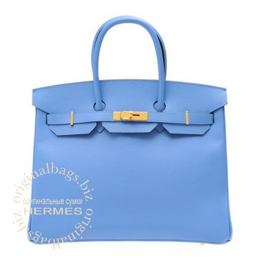 Hermes Birkin 35 Blue Paradise