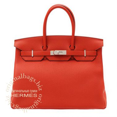 Hermes Birkin 35 Vermillon Red