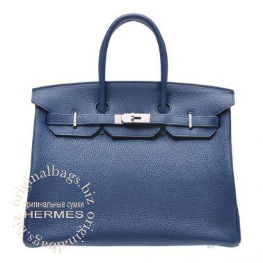 Hermes Birkin 35 Blue de malte