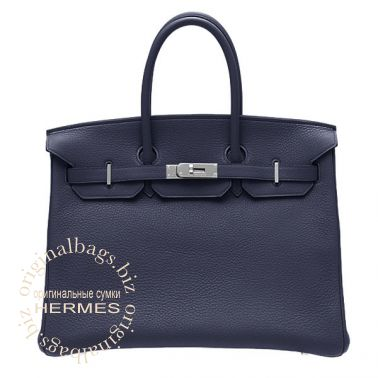 Hermes Birkin 35 Abysse Blue
