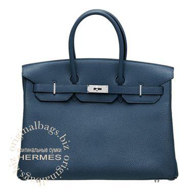 Hermes Birkin 35 Blue de Prusse
