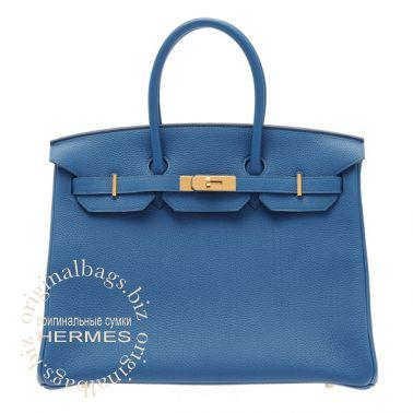 Hermes Birkin 35 Blue de Galice