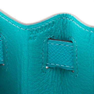 Hermes Kelly Sellier 28 Bleu Paon