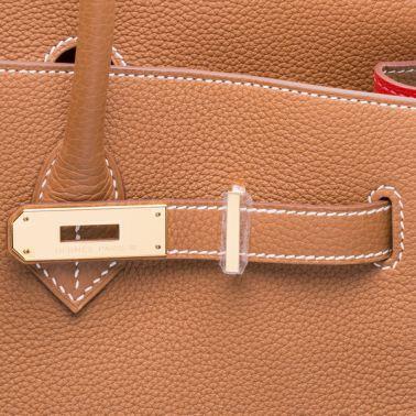 Hermes Birkin 35 Gold/Geranium