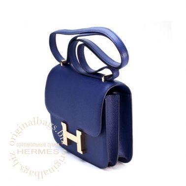Hermes Constance 18 cm Blue Sapphire