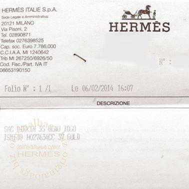 Hermes Birkin 35 Gold