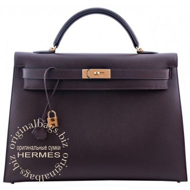 Hermes Kelly 40 Chocolate