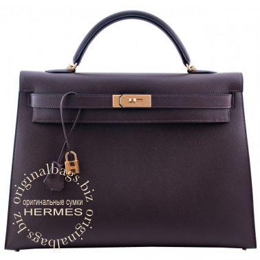 Hermes Kelly 40 Chocolate