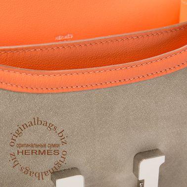 Hermes Constance 18 см Grey Tourterelle/Crevette