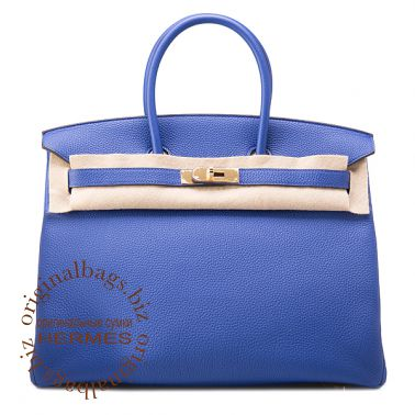 Hermes Birkin 35 Blue Electriс