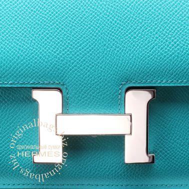 Hermes Constance Elan 25 Blue Paon