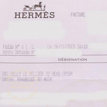 Hermes Kelly 32 Black