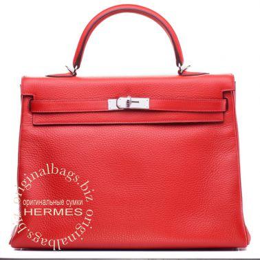 Hermes Kelly 35 Rouge Casaque
