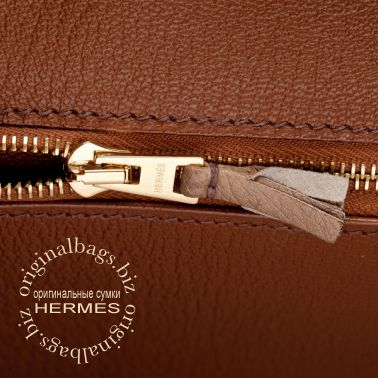 Hermes Birkin 30 Ghillies Etrusque/ Mousse/ Marron Fonce